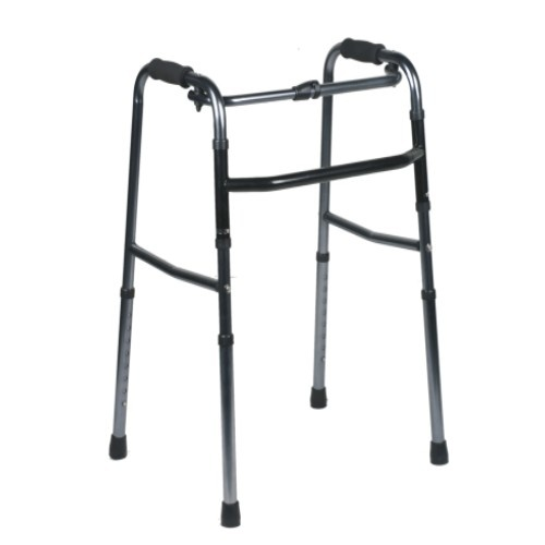 KLD811 Deluxe Folding Walker, One-Button
